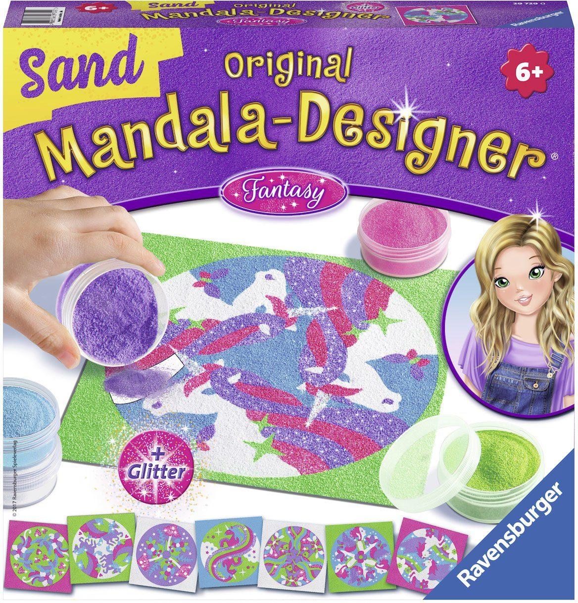 Ravensburger Bastelset mit Glitter, »Original Mandala Designer® Sand Fantasy«