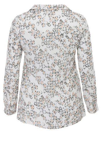FRAPP Gemusterte Bluse mit Hemdkragen