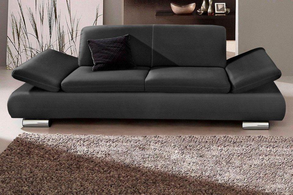 Ledersofa schwarz 2 sitzer  Max Winzer® 2-Sitzer Sofa »Toulouse« mit klappbaren Armlehnen ...