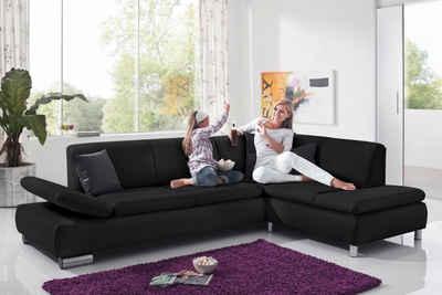 Max Winzer® Ecksofa »Toulouse«, mit klappbaren Armlehnen, Breite 237 cm