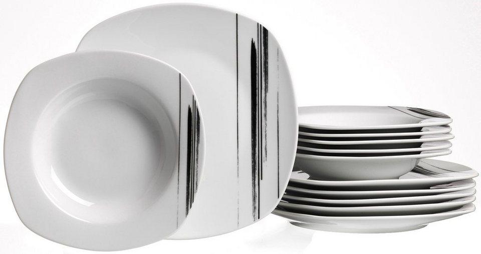 flirt by r b tafelservice porzellan 12 teile nero online kaufen otto. Black Bedroom Furniture Sets. Home Design Ideas