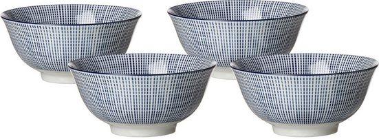 Ritzenhoff & Breker Müslischale »ROYAL MAKOTO«, Keramik, (Set, 4-tlg), mikrowellengeeignet