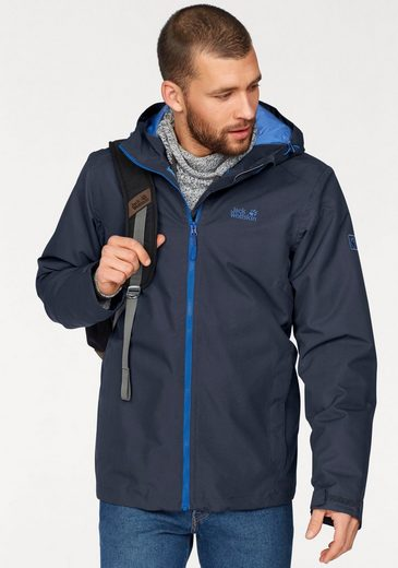 Jack Wolfskin Funktionsjacke CHILLY MORNING MEN, - Obermaterial wasserdicht