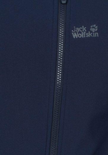 Jack Wolfskin Softshelljacke VALLEY WOMEN, mit asymmetrischem Reißverschluss