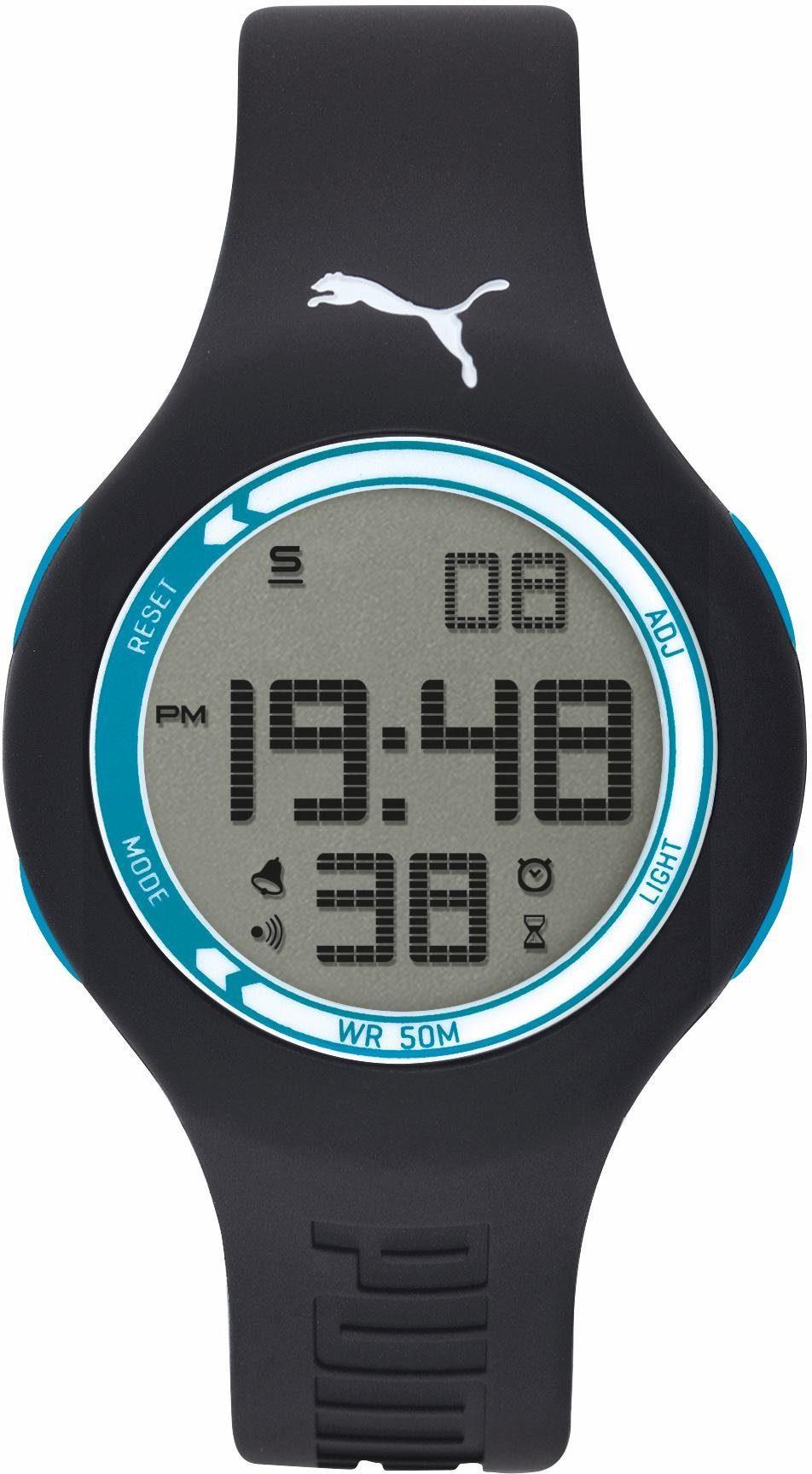 PUMA Chronograph »PU91080 EMPOWER - black blue, PU910801050«