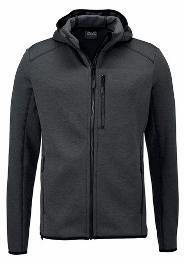 Jack Wolfskin Knitting Fleecejacke Skyland Hooded Jacket - Inside With Soft Fleece