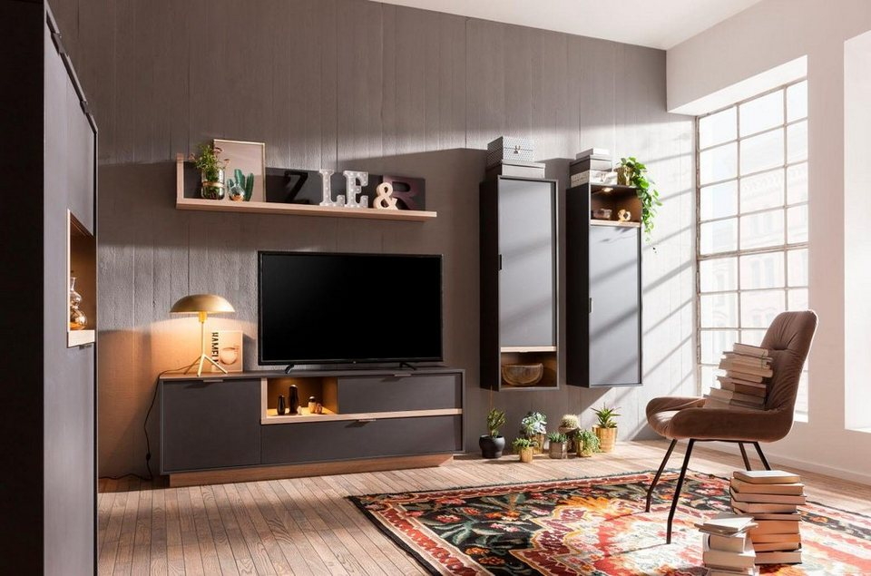 cs schmal wohnwand my ell 4 tlg online kaufen otto. Black Bedroom Furniture Sets. Home Design Ideas