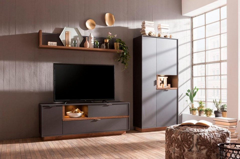 cs schmal wohnwand my ell 3 tlg online kaufen otto. Black Bedroom Furniture Sets. Home Design Ideas