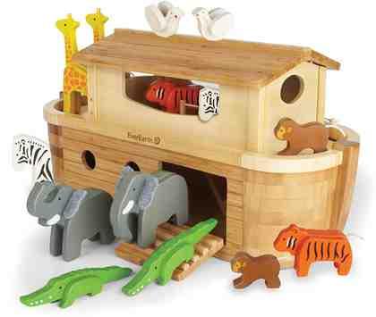 EverEarth® Holzspielzeug, »Arche Noah in Groß mit 14 Tieren«
