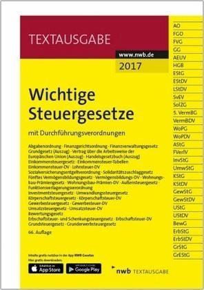 Broschiertes Buch »Wichtige Steuergesetze«