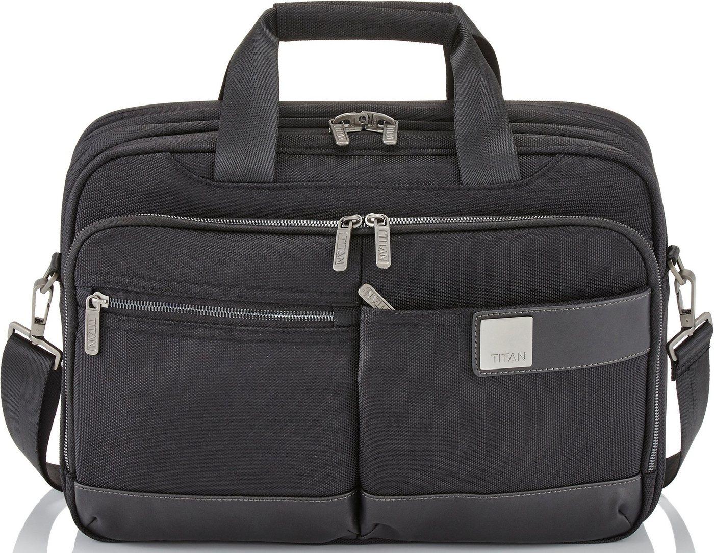 TITAN® Businesstasche »PowerPack S«, mit Laptopfach | Taschen > Businesstaschen | Schwarz | TITAN®