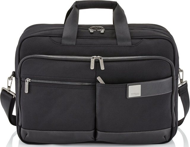 TITAN® Businesstasche mit Laptopfach, »PowerPack M« | Taschen > Business Taschen > Sonstige Businesstaschen | Schwarz | Metall | TITAN®