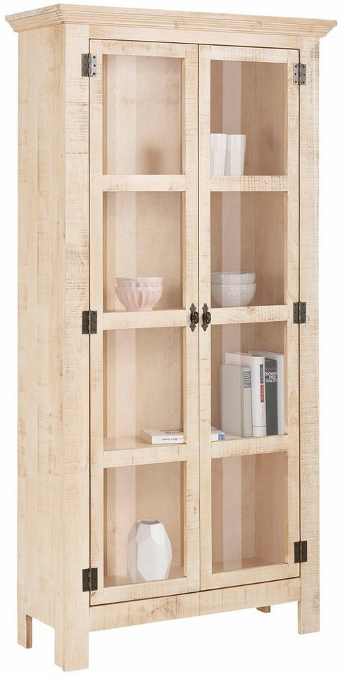 home affaire vitrine molly aus massiver kiefer 90 cm breit online kaufen otto. Black Bedroom Furniture Sets. Home Design Ideas