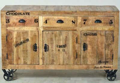 SIT Sideboard »Rustic«, im Factory Design, Breite 140 cm, Shabby Chic, Vintage
