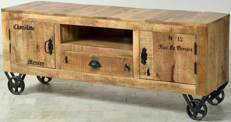 SIT Lowboard »Rustic«, im Factory design, Breite 140 cm, Shabby Chic, Vintage