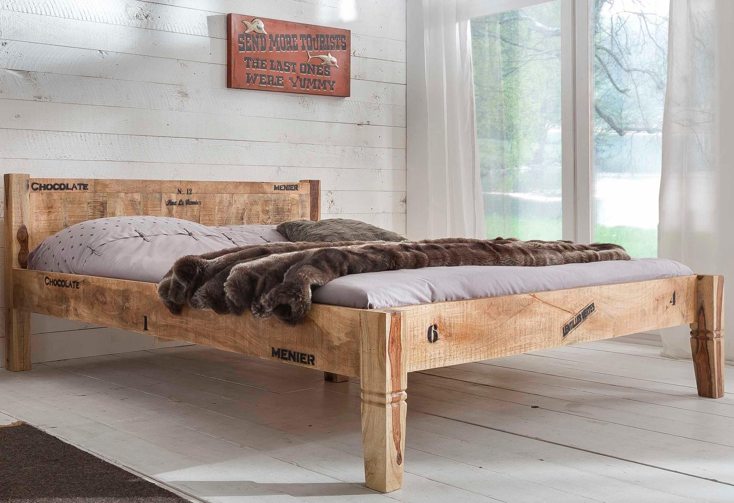 SIT Bett »Rustic», im factory design, Breite 180 cm