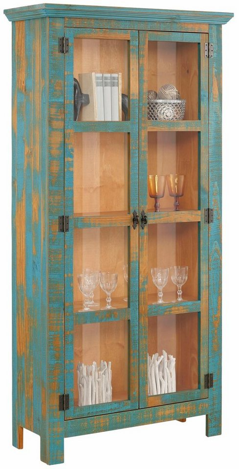 home affaire vitrine molly aus massiver kiefer 90 cm breit online kaufen otto. Black Bedroom Furniture Sets. Home Design Ideas