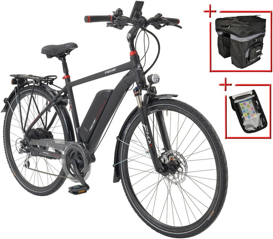 fischer fahrraeder e bike trekking herren eth 1722 28 zoll 24 gang heckmotor 557 wh online. Black Bedroom Furniture Sets. Home Design Ideas