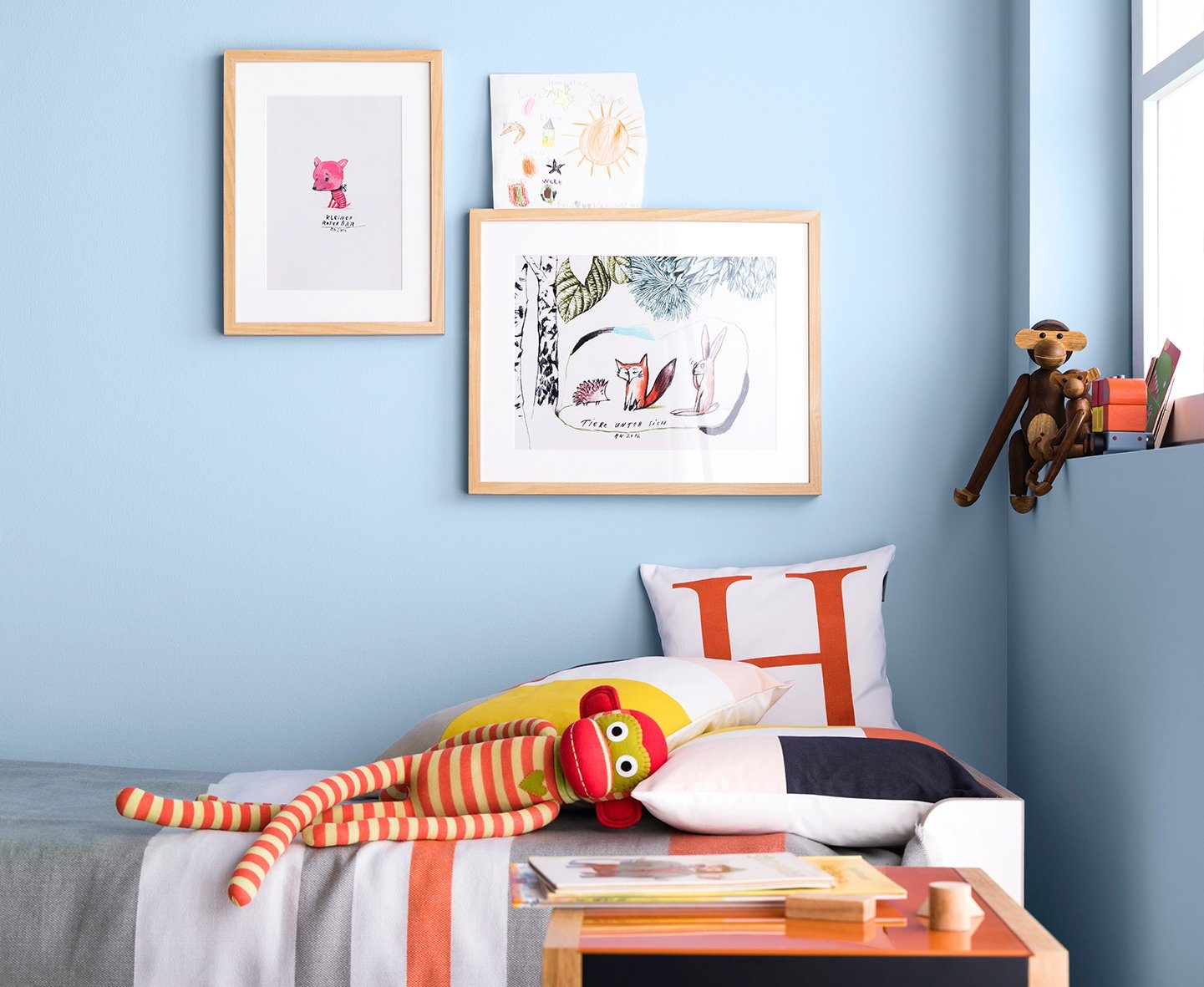 SCHÖNER WOHNEN FARBE Wand- und Deckenfarbe »Naturell Quellblau«, 2,5 l