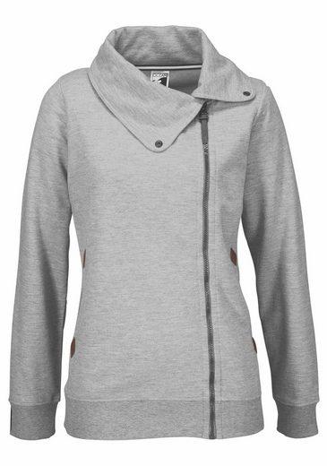 Ocean Sportswear Sweatjacke, asymmetrischer Kragen