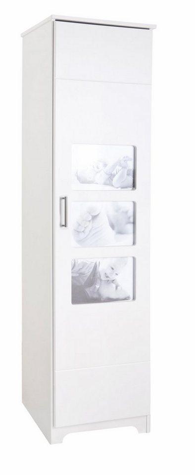 kleiderschrank 1 t rig passend zur babym bel serie happy mit eigenem babyfoto. Black Bedroom Furniture Sets. Home Design Ideas