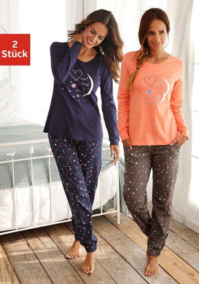 4ef973b000 Vivance Dreams Pyjama, mit Herzprint online kaufen   OTTO
