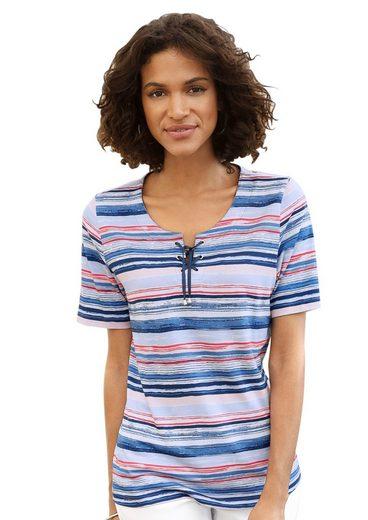Collection L. Shirt mit Zierband und Ösen