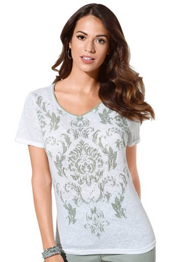 Classic Inspirationen Shirt mit schimmernden, facettierten Metallplättchen