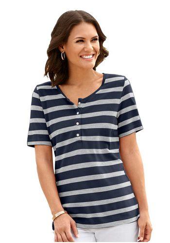 Damen Collection L. Shirt mit Seitenschlitzen blau   05205012284430