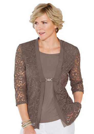 Classic Shirt With Gold-colored Decorative Clasp With Rhinestones