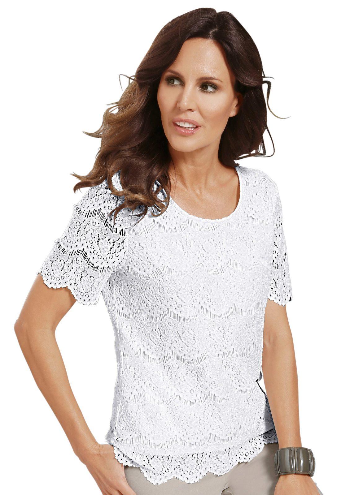 Alessa W. Shirt aus hochwertiger Spitze