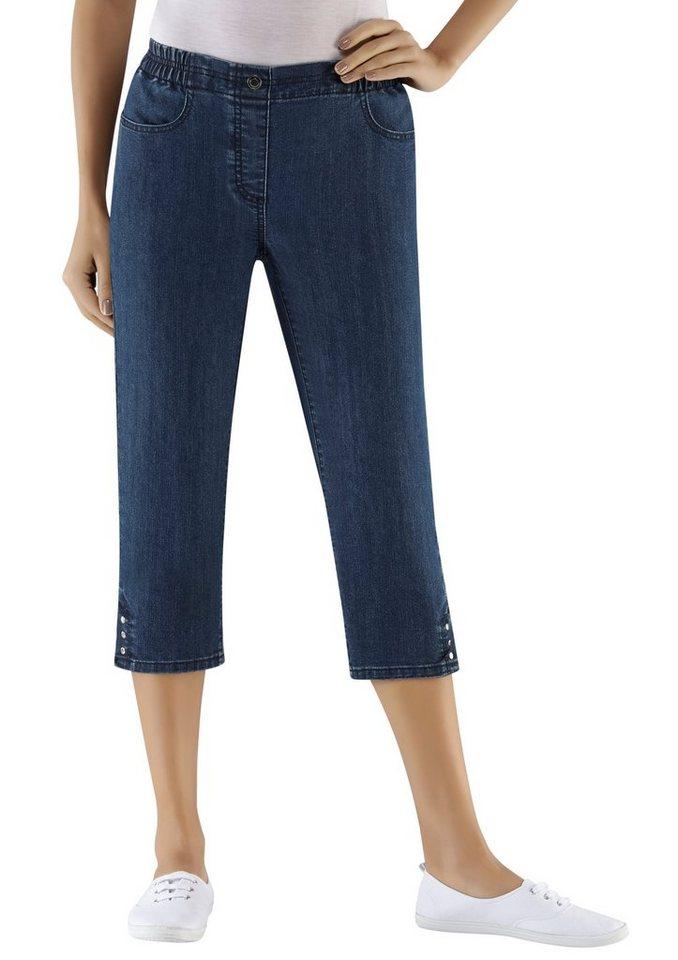 Classic Basics Capri-Jeans mit Rundum-Dehnbund | Bekleidung > Jeans > Caprijeans | Blau | Jeans | Classic Basics