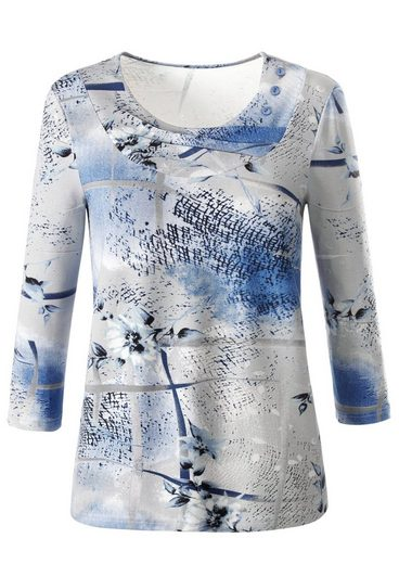 Classic Shirt mit in Falten gelegtem Rundhals-Ausschnitt