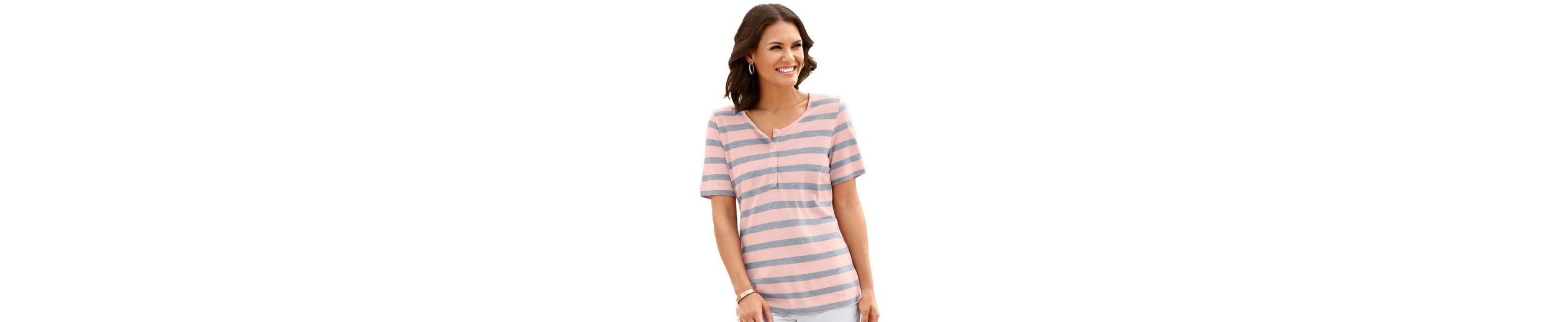 Collection L. Shirt mit Seitenschlitzen Neue Stile Online Verkauf Neuer Stile Günstig Kaufen Neueste Fälschung VXZMX