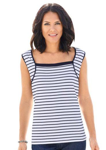 Collection L. Shirttop mit modischem Karree-Ausschnitt