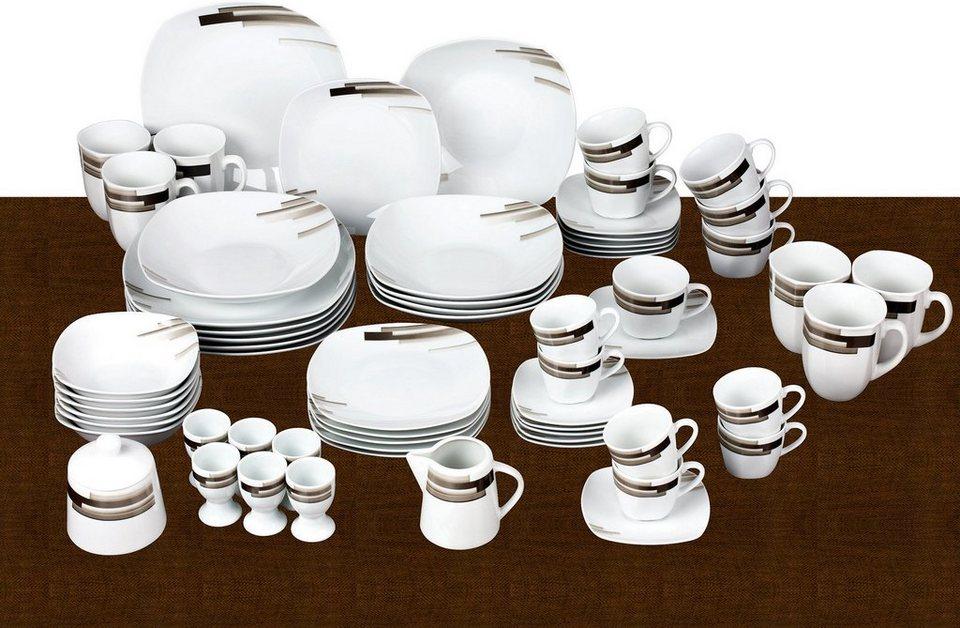 van well kombiservice porzellan 62 teile nevada online kaufen otto. Black Bedroom Furniture Sets. Home Design Ideas