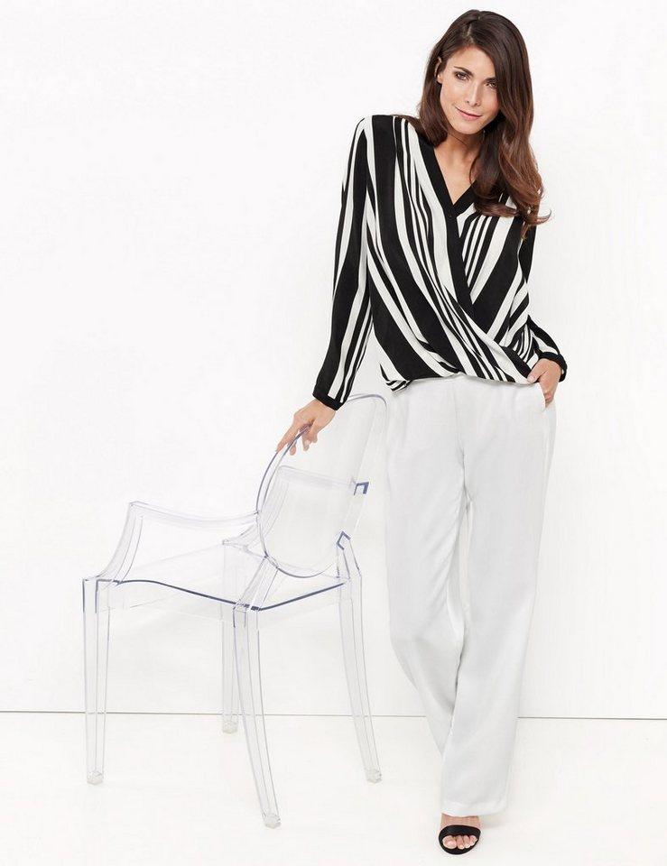 gerry weber bluse langarm langarmbluse mit wickeleffekt online kaufen otto. Black Bedroom Furniture Sets. Home Design Ideas