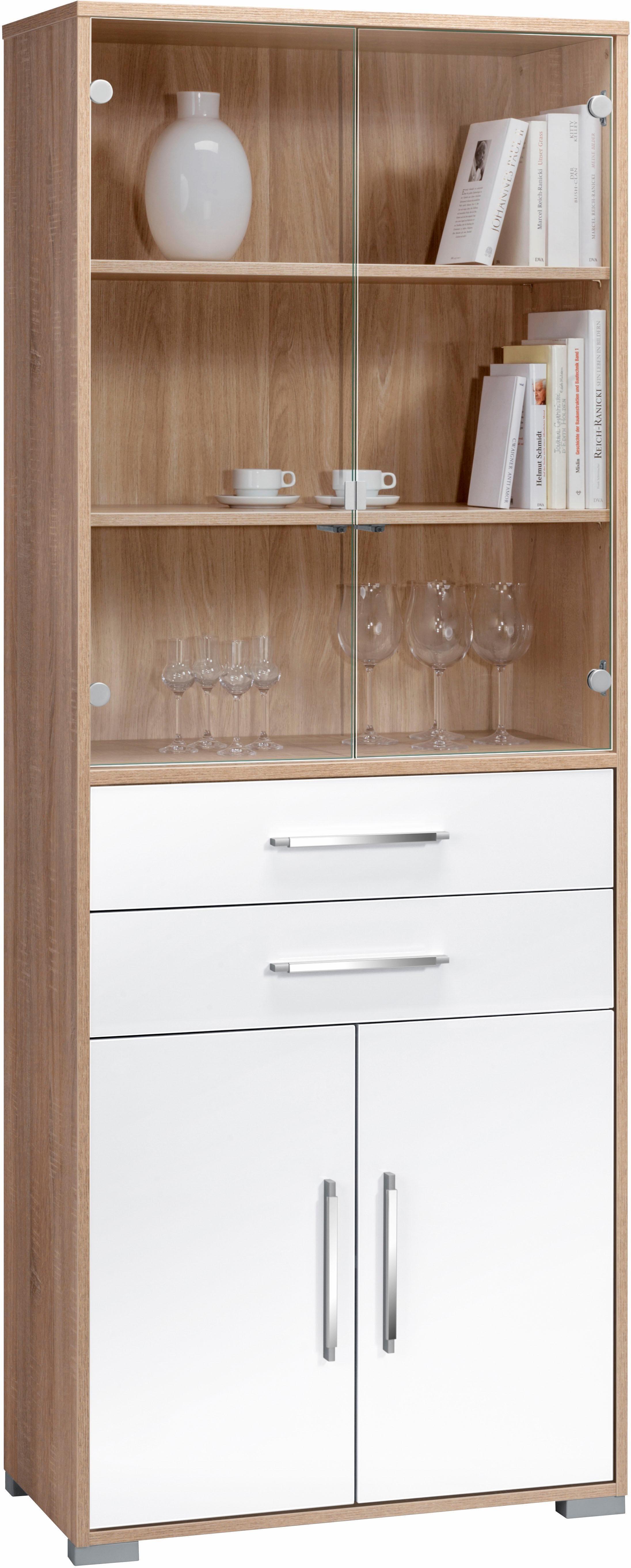 Maja Möbel Aktenschrank »System« | Büro > Büroschränke > Aktenschränke | Weiß - Grau - Glanz | Sonoma - Abs - Melamin | Maja Möbel