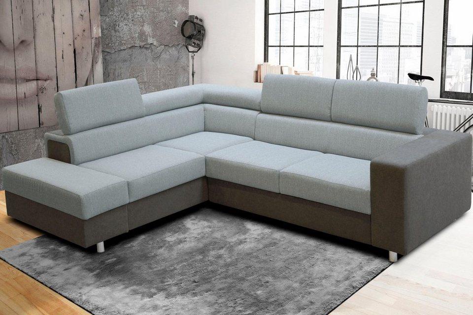 ecksofa wahlweise mit bettfunktion ottomane links oder rechts bestellbar online kaufen otto. Black Bedroom Furniture Sets. Home Design Ideas