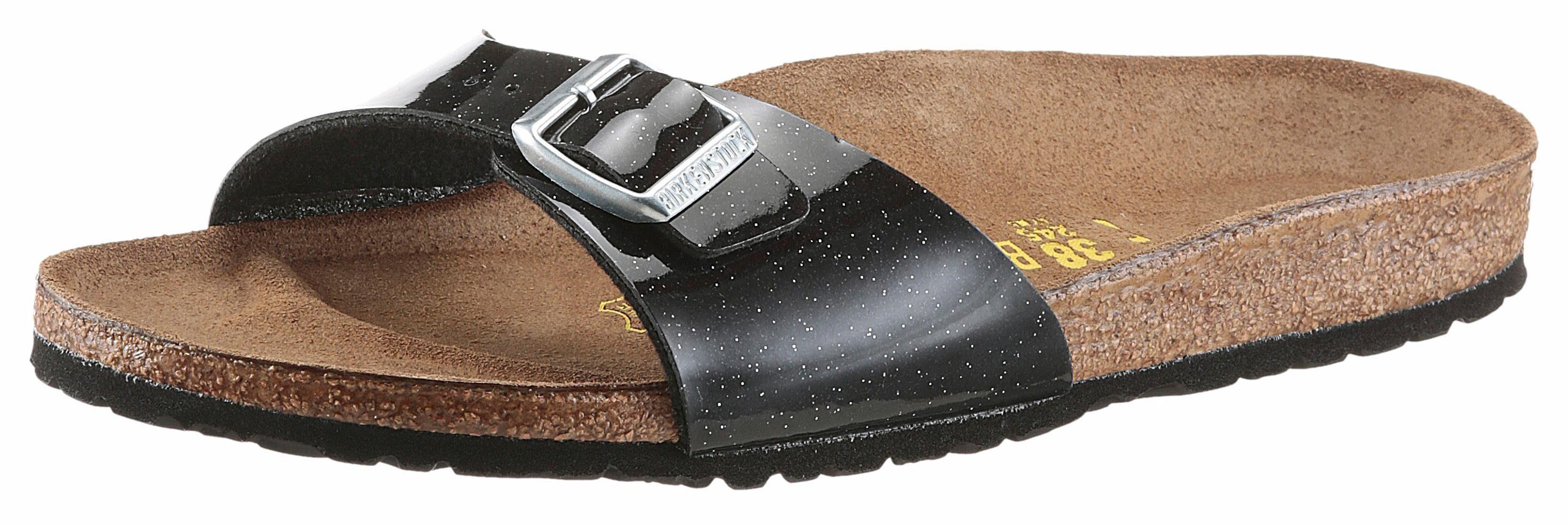 Birkenstock MADRID MAGIC GALAXY Pantolette, mit ergonomisch geformtem schwarz Fußbett online kaufen  schwarz geformtem 01e7f7