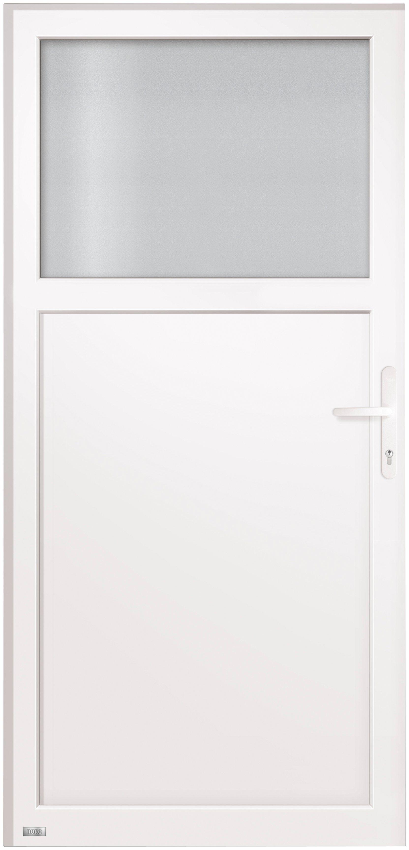 RORO Kunststoff-Haustür »Schottland«, BxH: 98x198 cm, weiß, Anschlag rechts