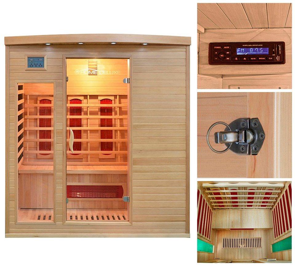home deluxe infrarotkabine tropical xl b t h 175 120 190 cm 40 mm f r bis zu 3 personen. Black Bedroom Furniture Sets. Home Design Ideas