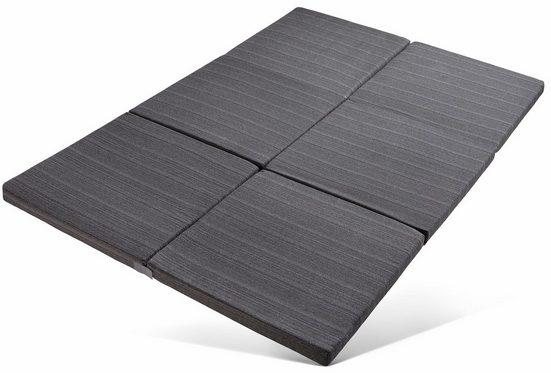 Klappmatratze »Elli«, RIBECO, 6 cm hoch, Raumgewicht: 25, mit Möbelstoff-Bezug, Größe: 140x195 cm