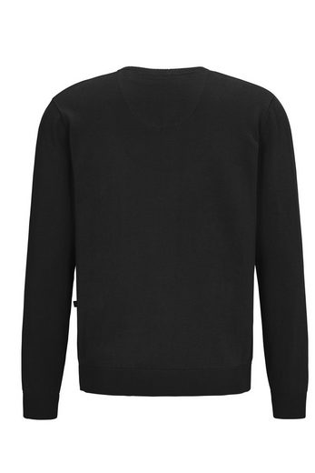 Hajo Klassischer V-Pullover Marine