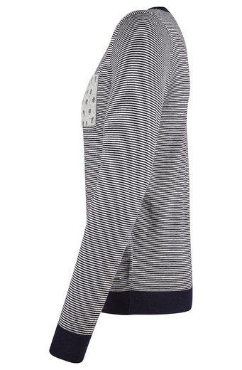 Scotch & Soda Pullover gestreift blau-weiß mit Brusttasche