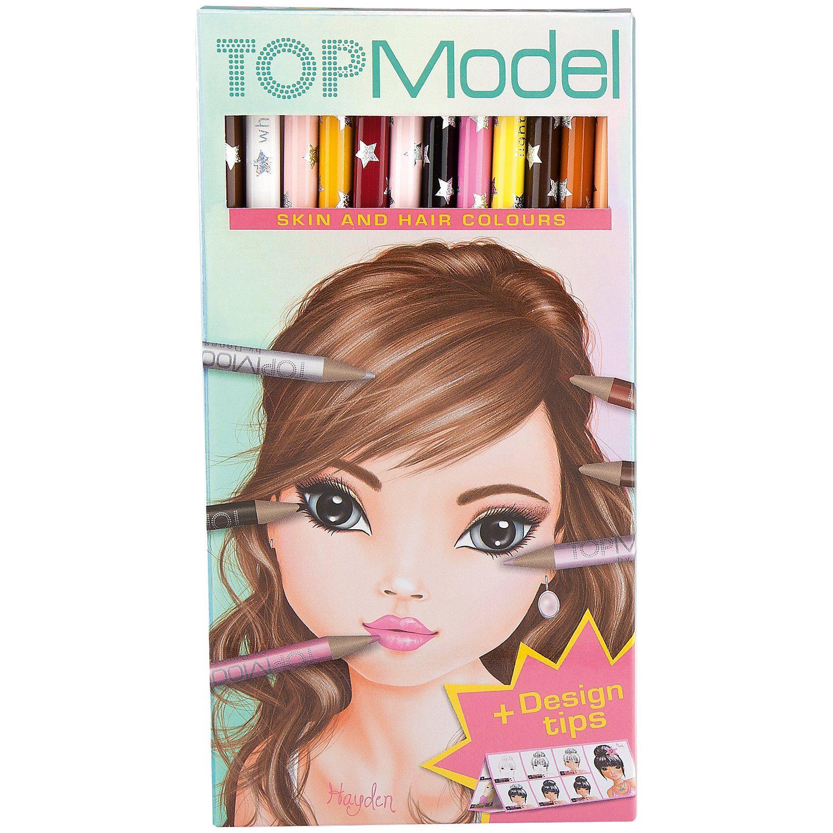 Depesche TOPModel Buntstifteset, Haut- und Haartöne