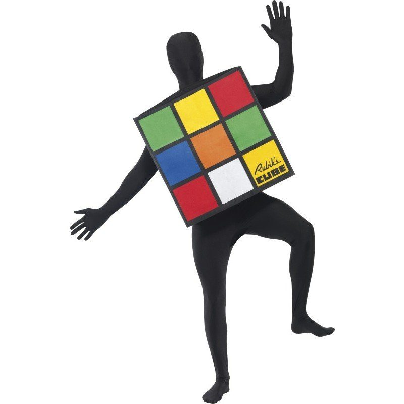 Rubik Zauberwürfel Kostüm Un - Einheitsgröße (S-L)
