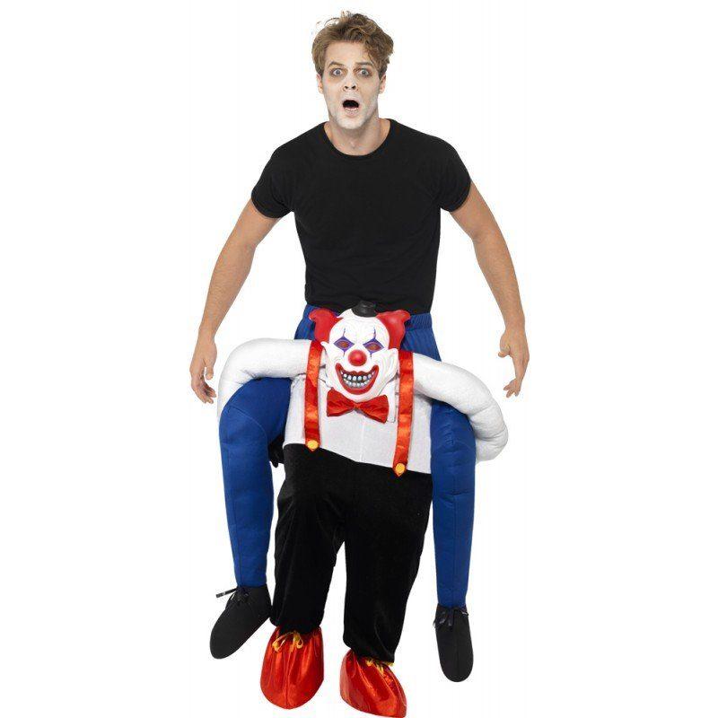 Böser Clown Huckepack Kostüm - Einheitsgröße