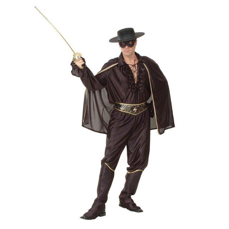 Maskierter schwarzer Bandit Herrenkostüm - L