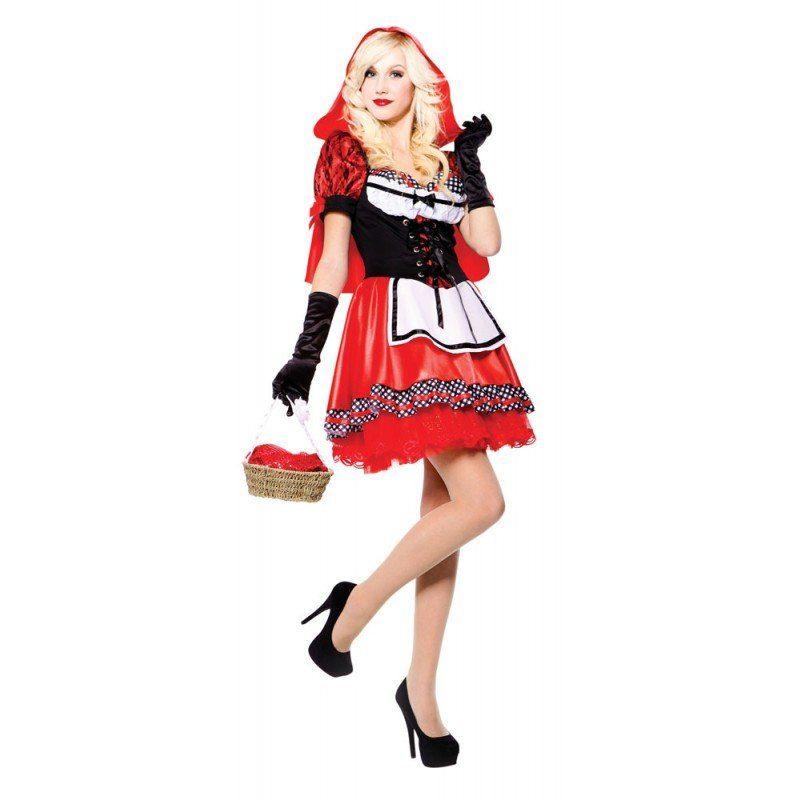 Elegantes Rotkäppchen Märchen Kostüm - S/M